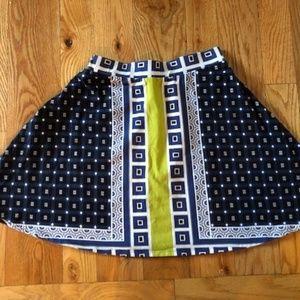 Xhileration, A-Line Geometric Pattern Skirt, Sz M